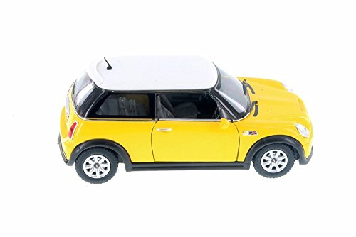 Kinsmart MINI Cooper S Hard Top, Yellow 5059SD - 1/28 Scale Diecast Model Toy Car but NO BOX
