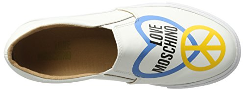 Love Moschino, Sandalias con Plataforma para Mujer Blanco (white 100)
