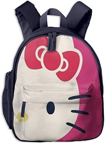 ハローキティちゃんの顔の半分 リュックサック子供用 スクールバッグ 通園 遠足 幼稚園 可愛い キッズ ベビー バックパック 男女兼用