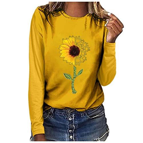 Aniywn T Shirt Sleeved Pullover Sweatshirt