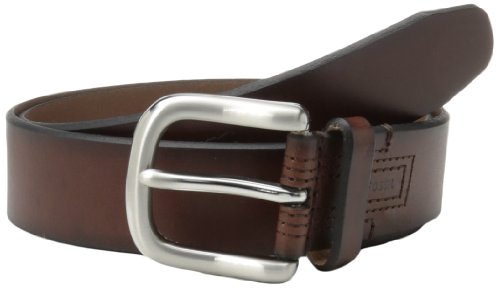 Fossil Leather Genuine Belt (Fossil Men's Hanover Belt, Brown,)