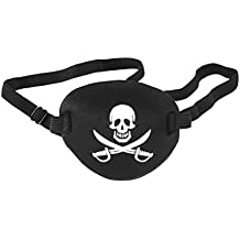 NUOLUX Pirate Eye Patch Skull Crossbone Eye Patch Eye Mask for Halloween (Black)