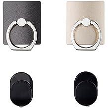 Phone Anillo Grip y 2piezas de soporte para todos los teléfonos–con soporte de coche–Rotación de 360º–Nunca Drop tu teléfono
