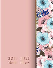 2019-2021 Three Year Planner: Flowers Marble Texture, Three Year Calendar 2019-2021, 3 Year Planner, 36 Month Calendar, Monthly Calendar Planner, Agenda Daily Planner, Appointment Notebook, Personal Organizers Planners, Schedule Daily Planner, Time Management, Cover 8.5 x 11 Inches
