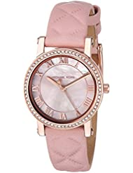 Michael Kors Womens Quartz Stainless Steel and Leather Casual Watch, Color:Pink (Model: MK2683)