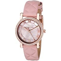 Michael Kors Women's Quartz Stainless Steel and Leather Casual Watch, Color:Pink (Model: MK2683)
