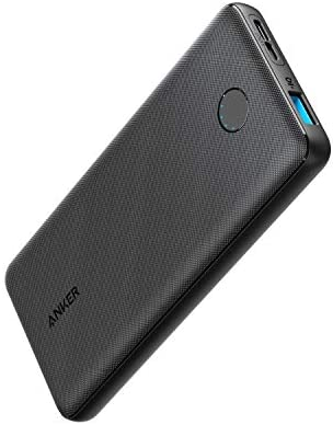 Anker PowerCore Slim 10000, Ultra Slim Portable Charger, Compact 10000mAh External Battery, High-Speed PowerIQ Charging Technology Power Bank for iPhone, Samsung Galaxy and More (USB-C Input Only)