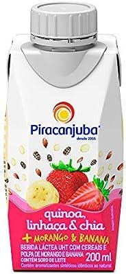 Bebida Láctea Quinoa Linhaça e Chia Sabor Morango e Banana Piracanjuba 200ml