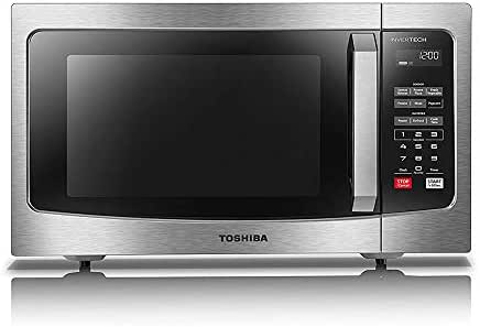 Toshiba EM245A5C-SS Microwave Oven with Inverter Technology, LCD Display and Smart Sensor, 1.6 Cu.ft/1250W, Stainless Steel