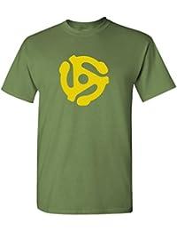 DJ 45 RPM ADAPTER - Mens Cotton T-Shirt