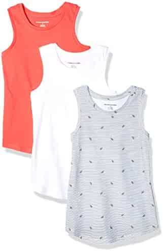Amazon Essentials Girls' 3-Pack Tank Top