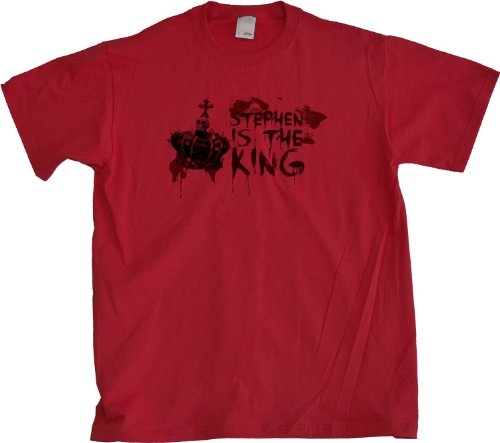 Ann Arbor T-shirt Co. Men's Stephen is the King Horror Book Fan T-Shirt