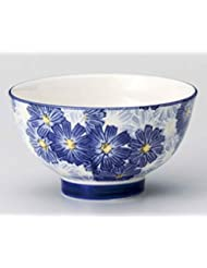 Blue Flower 4 3inch Set Of 10 RICE BOWLs White Ceramic Made In Japan
