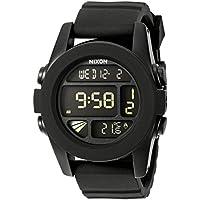NIXON Men's A197-000 Silicone Digital Quartz Black Watch