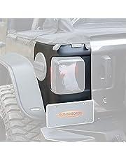 Bushwacker 14084 Trail Armor Rear Corner for 2018-2021 Jeep Wrangler JL, 2-Door and 4-Door, Black