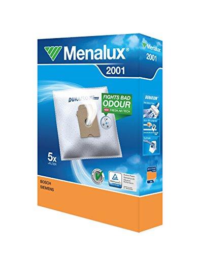 Menalux 2001 Pack con 5 bolsas y 1 filtro para aspiradores Bosch, Siemens y Ufesa