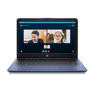 HP Stream 11-inch HD Laptop, Intel Celeron N4000, 4 GB RAM, 32 GB eMMC, Windows 10 Home in S Mode with Office 365 Personal for 1 Year (11-ak0010nr, Royal Blue)