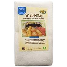 Pellon Wrap-N-Zap Cotton Quilt Batting, 45 by 36-Inch, Natural
