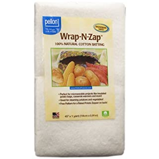 Pellon, Natural Wrap-N-Zap Cotton Quilt Batting, 45 by 36-Inch, 1 Pack