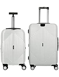 2bc19b442ef68c Fochier 2 Piece Luggage Sets Hardside Expandable Spinner Suitcase with TSA  Lock