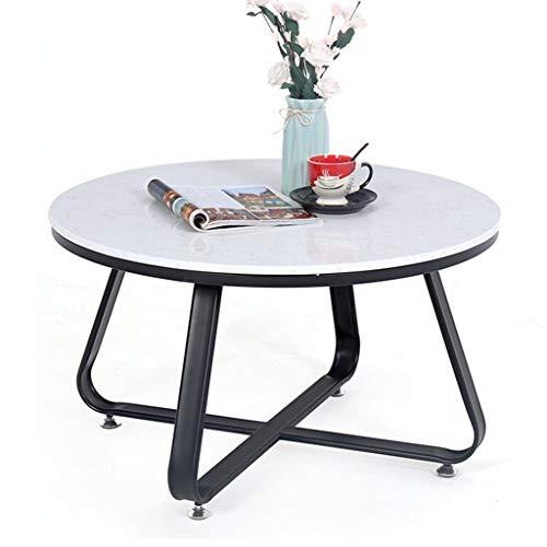 Amazon Com 80cm Mid Century Modern Round Coffee Table White