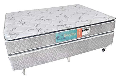 Conjunto Box Completo Queem Becflex Vision Pillow Top 1,58 x 1,98 x 0,56 (Cama Box + Colchão)