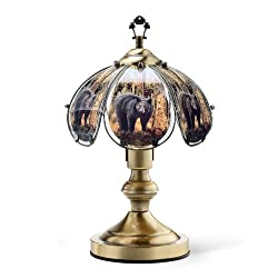 OK Lighting OK-603AB-BE8 14.25-Inch Touch Lamp with Bear Theme, Antique Bronze