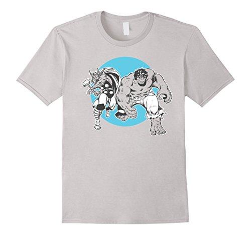Marvel+Comics+Retro+Shirt Products : Marvel Thor and Hulk Friends Classic Retro Comic Art T-Shirt