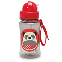 Skip Hop Zoo Straw Bottle, 12 oz, Pia Panda