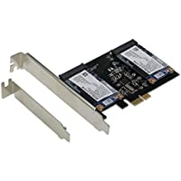 SEDNA - PCI Express Dual mSATA III (6G) SSD Adapter with low profile bracket (SSD not included)