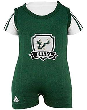 2 Pc Bulls Adidas Green Baby Romper