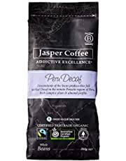 JASPER COFFEE Fairtrade Organic Café Femenino Peru Decaf, 250 Grams