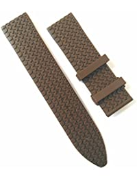 23mm Brown Silicone Rubber Watch Band Strap OEM style for Mille Miglia
