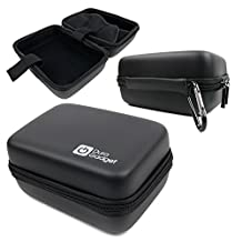 DURAGADGET Exclusive Black Hard Shell EVA Box Case with Carabiner Clip & Twin Zips for the LG 360 Cam