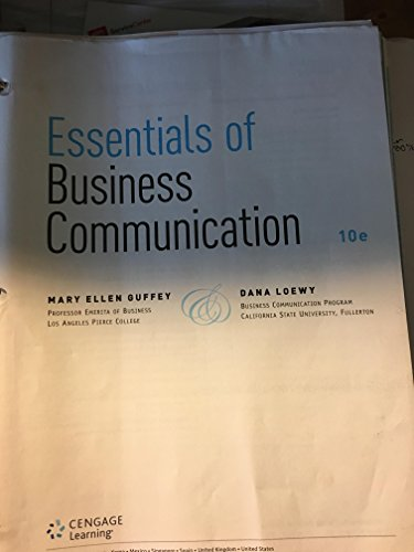 Essentials Of Business Comm. Text