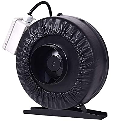 """MD Group 4"""" 8"""" Inline Duct Fan Hydroponics Exhaust Cooling Fan, 8"""