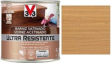 V33 - Barniz ultra resistente satinado roble claro 0,25l ...