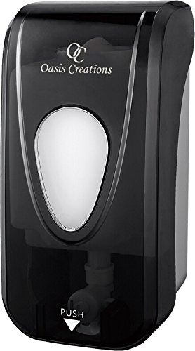Soap Dispenser by Oasis Creations  Soap/Lotion-Wall Mount– 1000ml/33oz. Commercial Or Residential -Black Smoke -