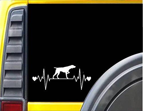 - German Shorthaired Pointer Lifeline *J351* 8.5 inch wide dog decal sticker