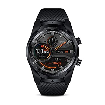 TicWatch Professional 4G LTE Mobile Smartwatch GPS NFC Put on OS by Google Android Well being and Health Tracker with Calls Notifications Music Swim Sleep Monitoring Coronary heart Price Monitor US Model