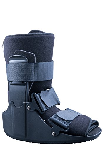 Mars Wellness Premium Polymer Low Top Cam Walker Fracture Ankle/Foot Stabilizer Boot - M - Updated Size Chart