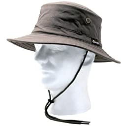 Sloggers 4471DB Classic Cotton Hat with Wind Lanyard Rated UPF 50+ Maximum Sun Protection  - Dark Brown - Adjustable Medium to Large