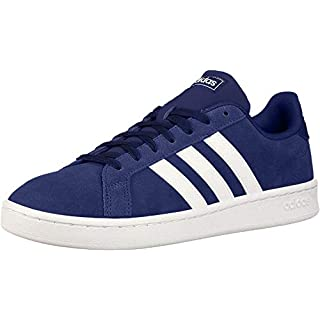adidas mens Grand Court Sneaker, Dark Blue/White/Cloud White, 9.5 US