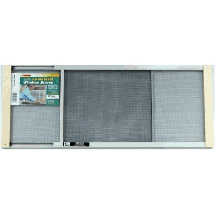 Marvin Adjustable Window Screen 24'' Tall, 37''W, Extends From 21'' To 37''W Steel Charcoal Extends From