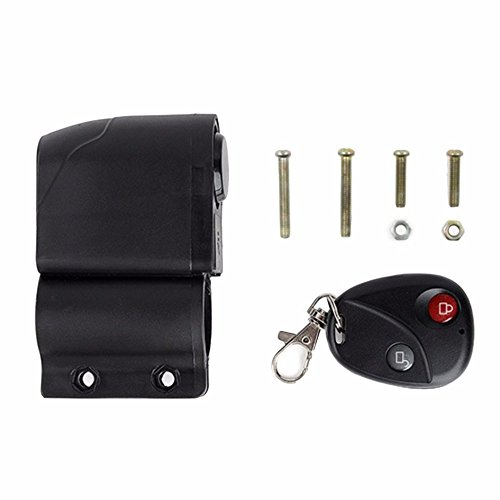 Bicycle Alarm Lock Anti-theft Lock With Remote Controller Riding Cycling Security Lock by Isguin (Image #1)