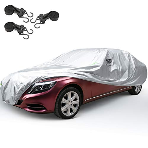 SEG Direct Durable Car Cover for Sedans, Lightweight, UV/Wind Proof, Fits up to 211'' / 536cm