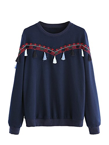 Cotton Embroidered Sweatshirt - 4