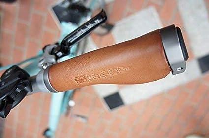 Brompton M//H type Handlebar Short Ergon or Straight Leather Grips MiniMODs