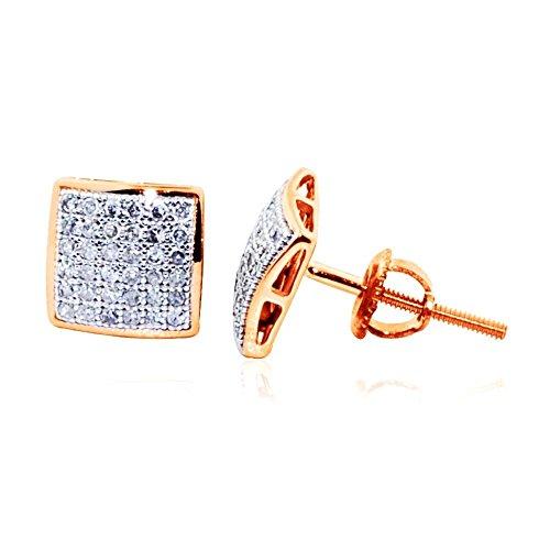 Rose Diamond Earrings Screw 0 2ctw product image