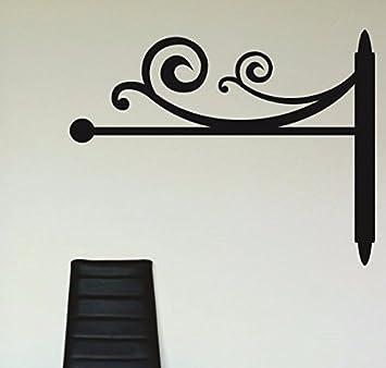 Design with Vinyl RAD 1180 2Curly Art Design Silhouette Vinyl Wall Decal Black 16 x 24